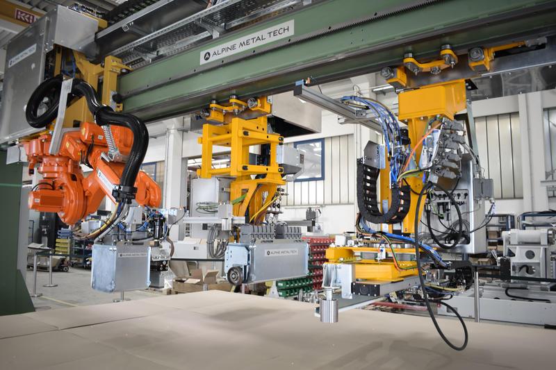 alpine metal tech plate marking robot