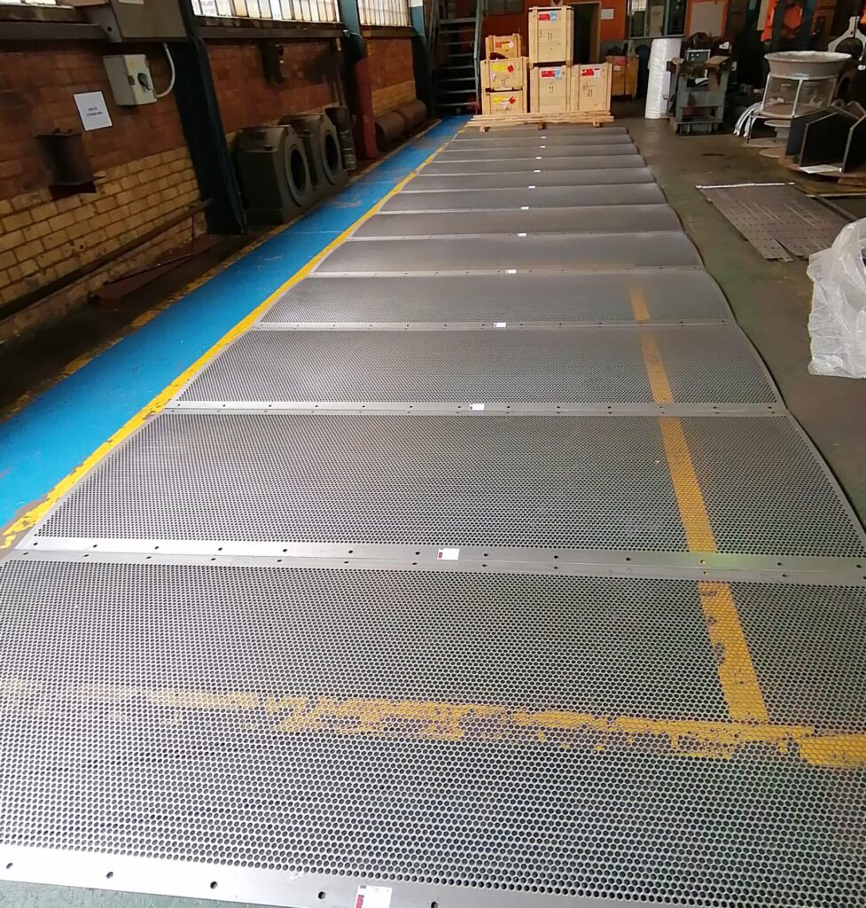 3CR12 Perforated plate diffuser screen for the food industry